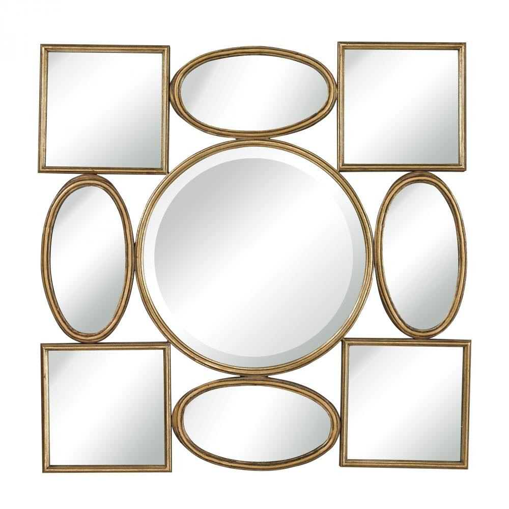 Lisnagry Modern Simple Shapes Wall Mirror By Sterling 132 013