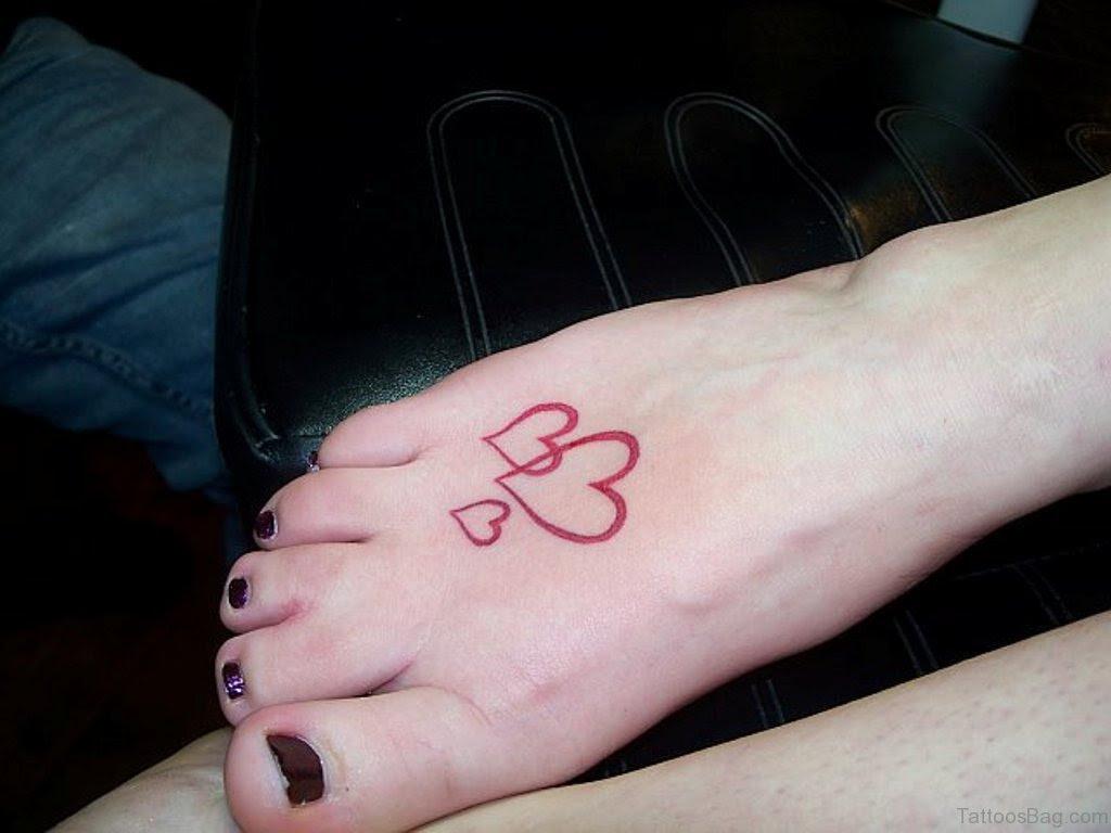 57 Fabulous Love Tattoos On Foot