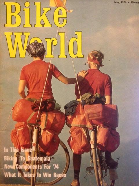 May 1974 Bike World  June and Greg Siple on Hemistour