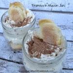 Easy Tiramisu in mason jars