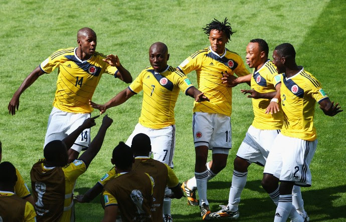 Armero comemora gol pela Colômbia na Copa do Mundo (Foto: Getty Images)