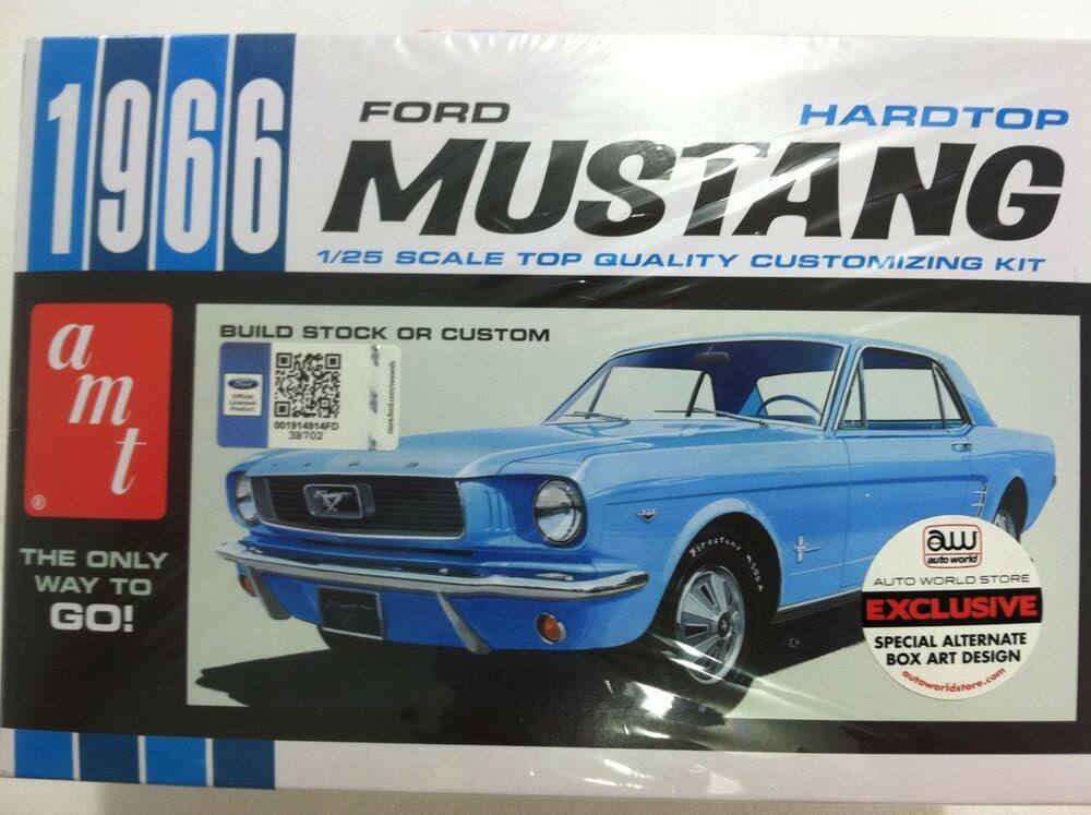 AMT 1966 Ford Mustang Plastic Model Car Kit AMTSCMO18/12 SCMO18  eBay