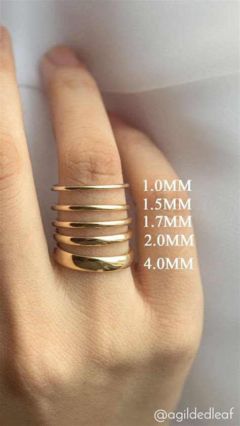Popular wedding ring width comparison   A Gilded Leaf