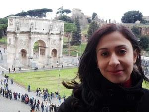 Brasileira relata tensão após tremor na Itália (Foto: Priscila Haydée/ Arquivo Pessoal)