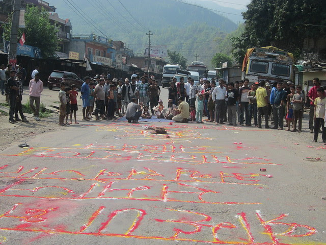 protest for the Nepali strikes