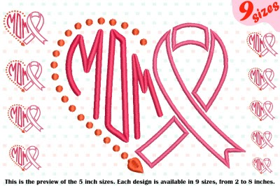 Download Download Heart Mom Breast Cancer Embroidery Design hope ...
