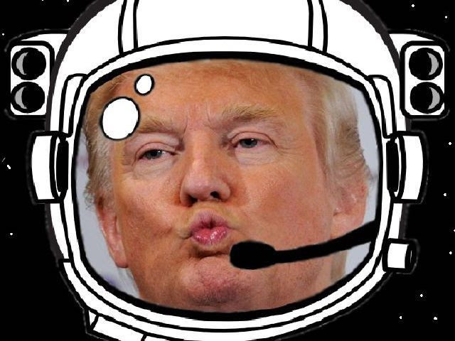 Image result for donald trump in space