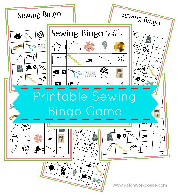 printable sewing bingo game