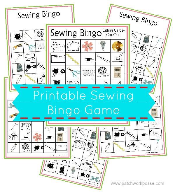 printable sewing bingo game