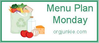 Menu Plan Monday ~ Sept 26th