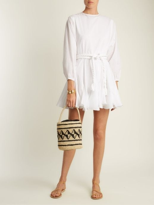 Le Fashion Blog Must Have Rhode Resort Ella Belted Cotton Dress Via Matches Fashion