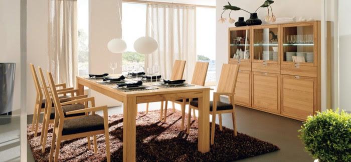 contemporary wood dining set