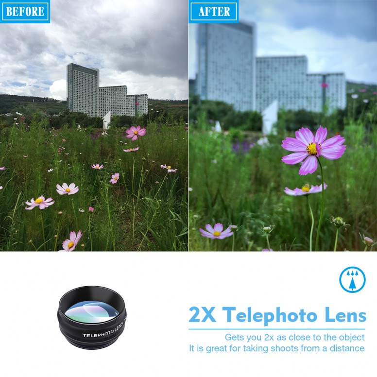 [PT] Apexel 10 in 1 Combo Macro+Wide+Fisheye+Zoom+CPL+Kaleidoscope+Flow+Radial+Star Filter [Mi5]