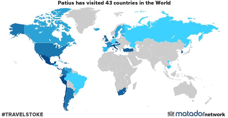 Patius's Travel Map