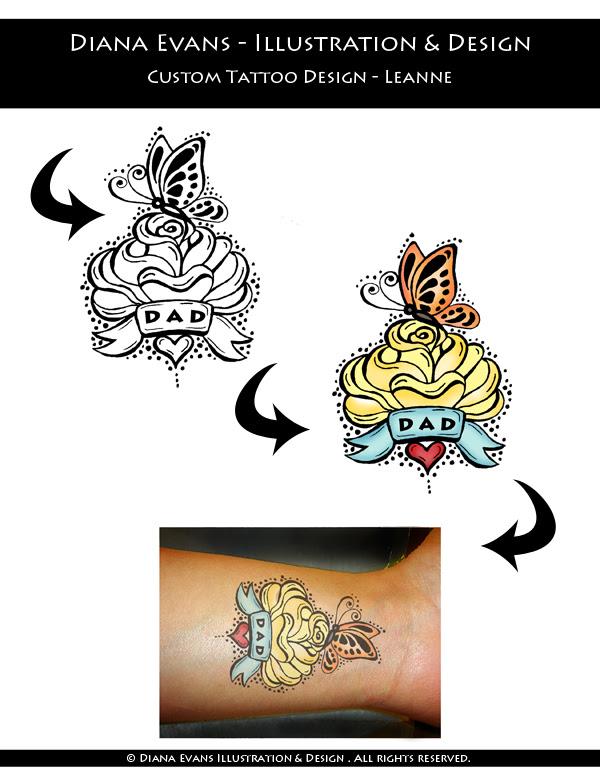 Custom tattoo Leanne