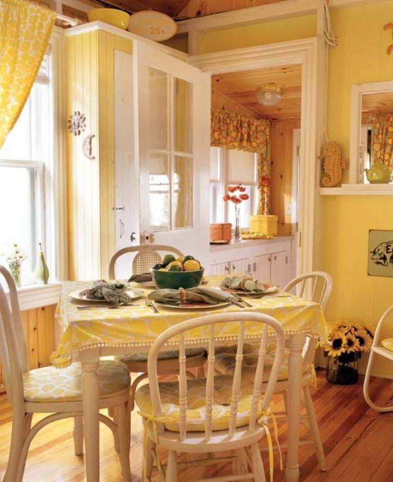 15 Bright and Cozy Yellow Kitchen Designs - Rilane