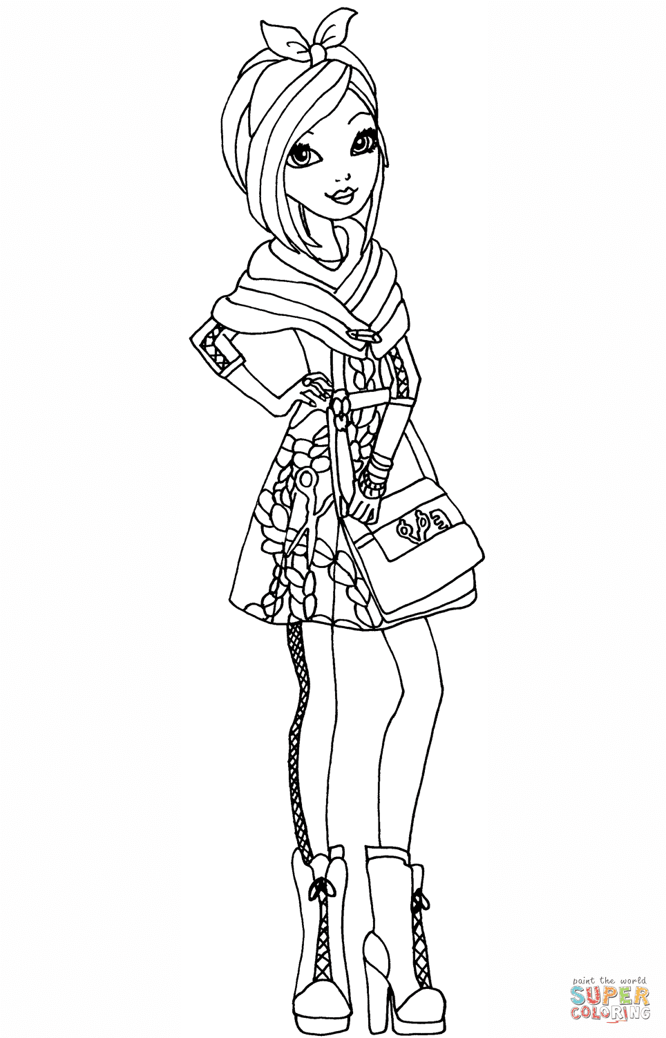 Ever After High Coloring Pages Madeline Hatter At Getdrawingscom