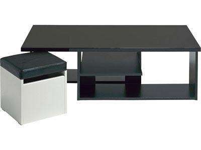 Table Basse 2 Poufs Egerie Prix Promo Conforama 11920