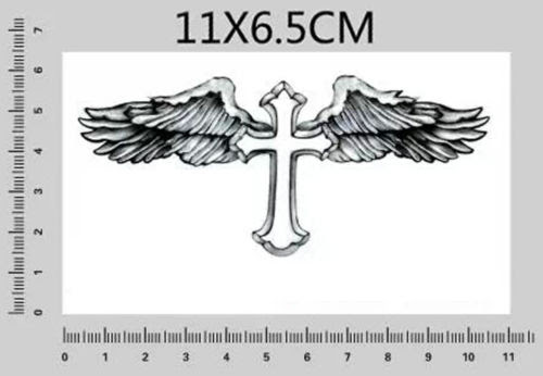 Temporary Tattoo Cross Wing Tattoo Stickers Beckham Graphics Tatto