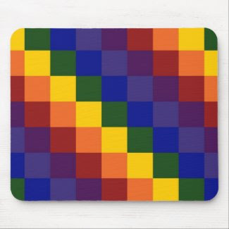 Checkered Rainbow Mousepads