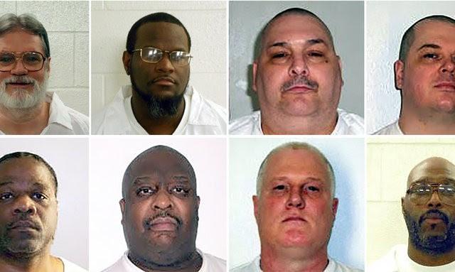 Gli otto detenuti che saranno sottoposti all'iniezione letale tra il 17 e il 27 aprile in Arkansas