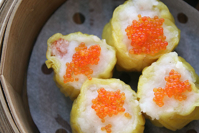 Steamed Siew Mai with Crab Roll