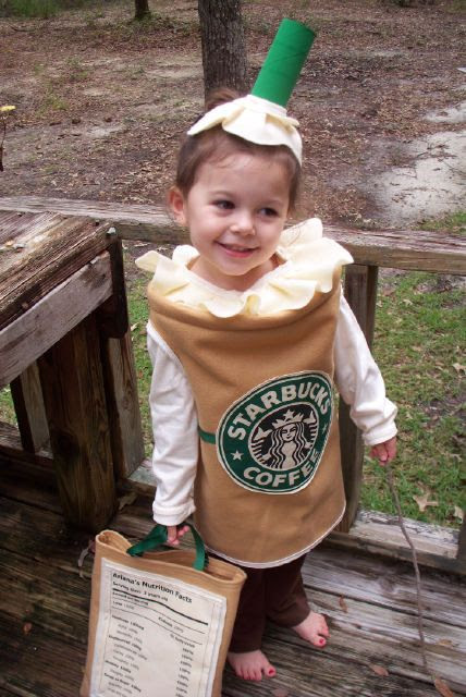 halloween costume and nutrition facts on the bag! super cute!