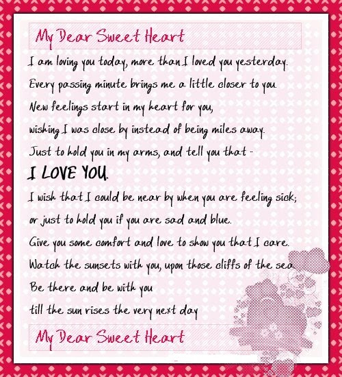 My Dear Sweetheart I Am Loving You Today More Than I Loved You