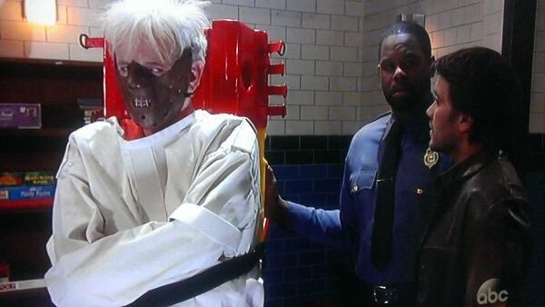 Not home where I can watch #GH yet, but checking Twitter for updates. This picture scares the beejeebus outta me!