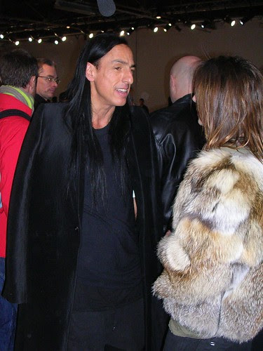 Paris FW: Outside Gareth Pugh Fall/10 show - Rick Owens