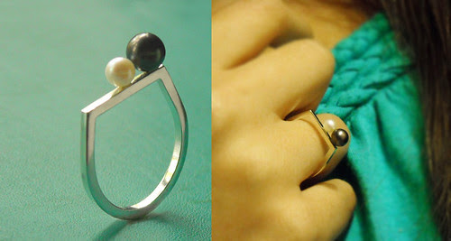 Double Pearl Cocktail Ring