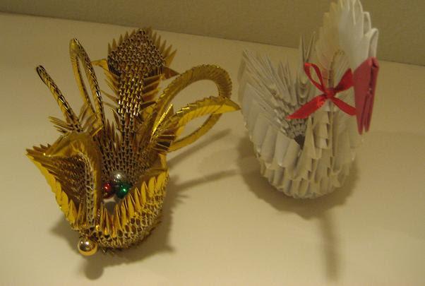Origami Swan and Phoenix