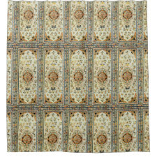 Oriental rug in light colors shower curtain