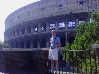 Mike outside the Roman Colosseum