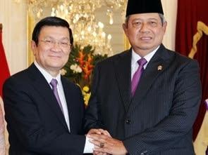 Indonesia, đối tác chiến lược, chủ tịch nước, Trương Tấn Sang