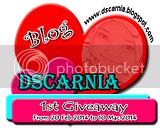 1st Giveaway by Dscarnia