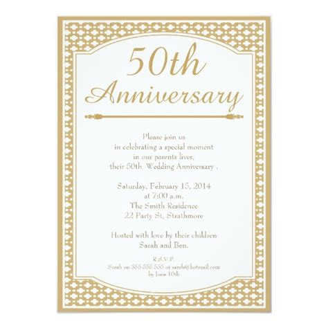 wedding anniversary invitation zazzlecouk