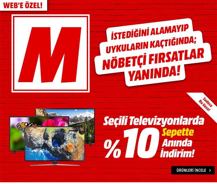 Seçili Televizyonlarda Sepette Anında %10 İndirim!