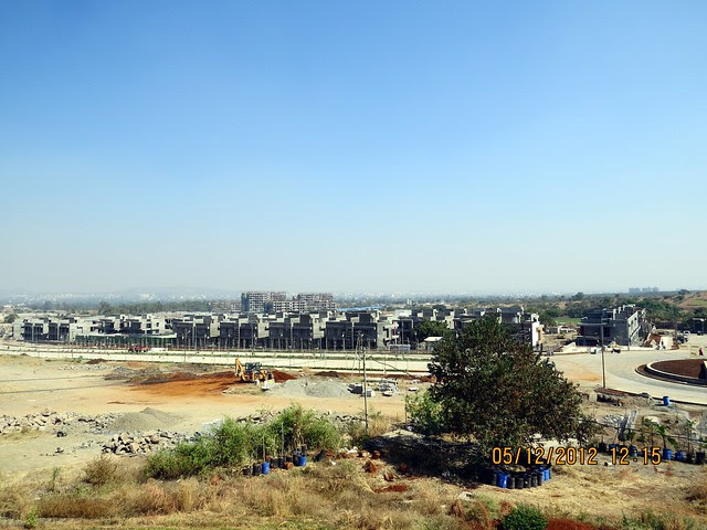 2nd, 6th & 7th Avenue from the viewing point on the Patio of the Site Office  - Development in the 1st Year - Kolte-Patil Life Republic Marunji, Hinjewadi - Kasarsai Road, Pune 411057