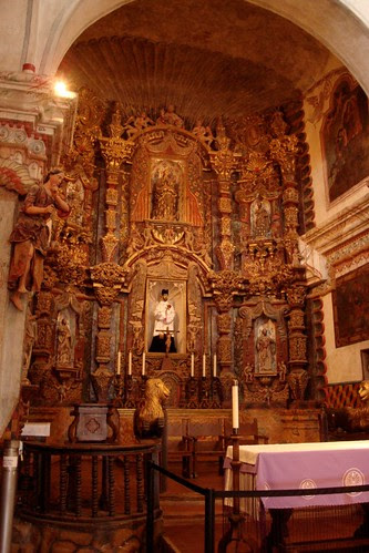 Altar area at San Xavier