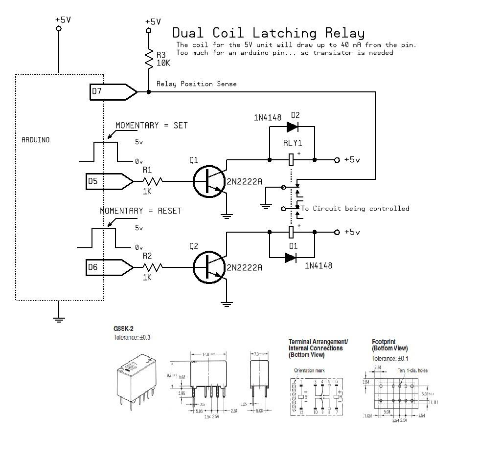 Latching Relay Impulse Relay Wiring Diagram
