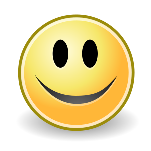 An emoticon with a smile. For more emoticons i...