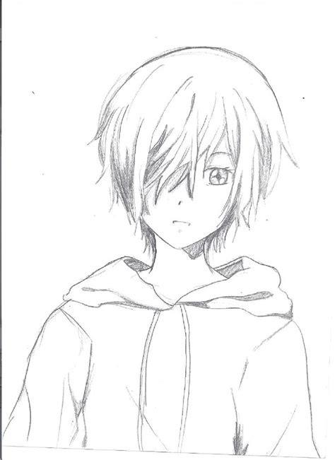 anime tomboy sketch illustration character sketch