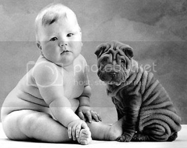 fat baby and wrinkly charpet