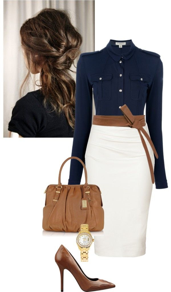 elegant and classy office polyvore combinations