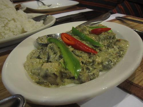 Spicy Laing-Taro leaves in coconut milk
