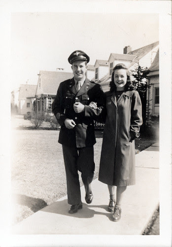 Gladys with soldier