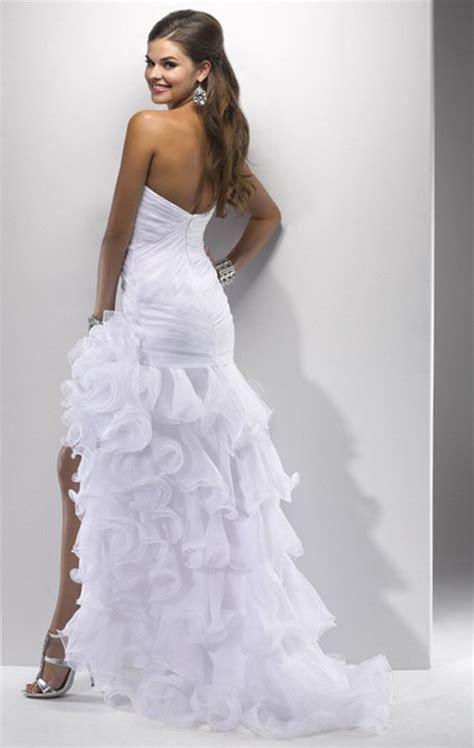 Wedding dress short in front long in back