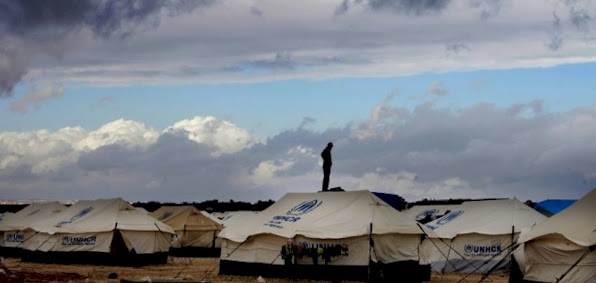 Syrian refugee camps like this one have popped up in Jordan and Lebanon.