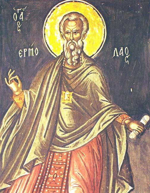IMG ST. HERMOLAUS, Hieromartyr at Nicomedia